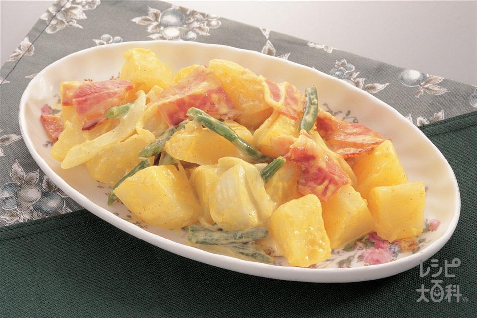 カレー風味のジャーマンポテトサラダ