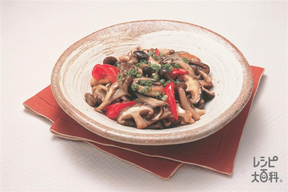 山の幸炒め(まいたけ+チンゲン菜を使ったレシピ)