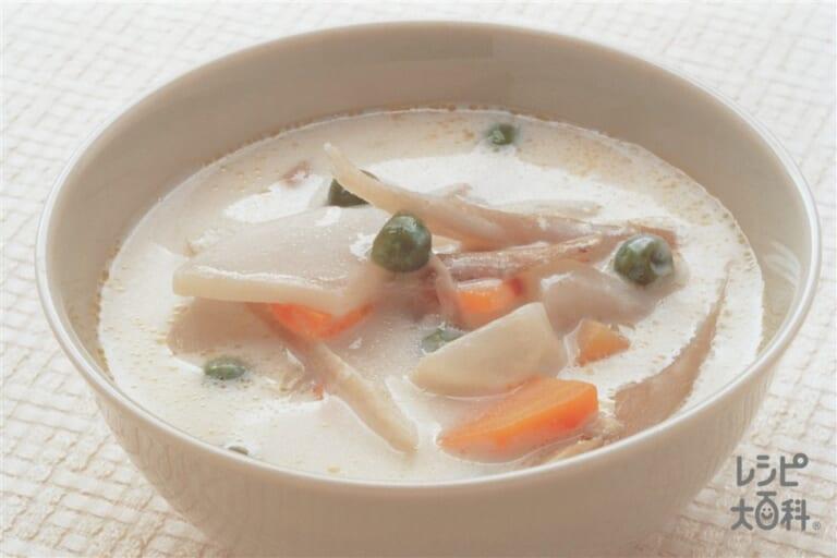 根菜のあったかミルクスープ