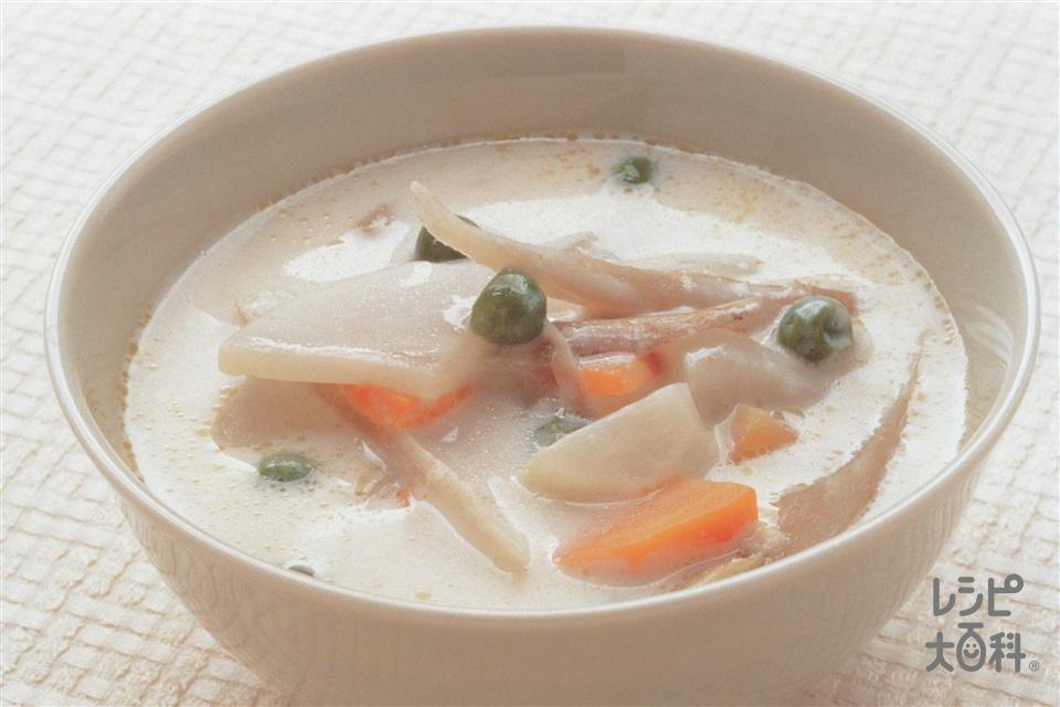 根菜のあったかミルクスープ(かぶ+牛乳を使ったレシピ)