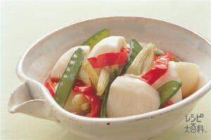 かぶの白ワイン煮(かぶ+パプリカ(赤)を使ったレシピ)