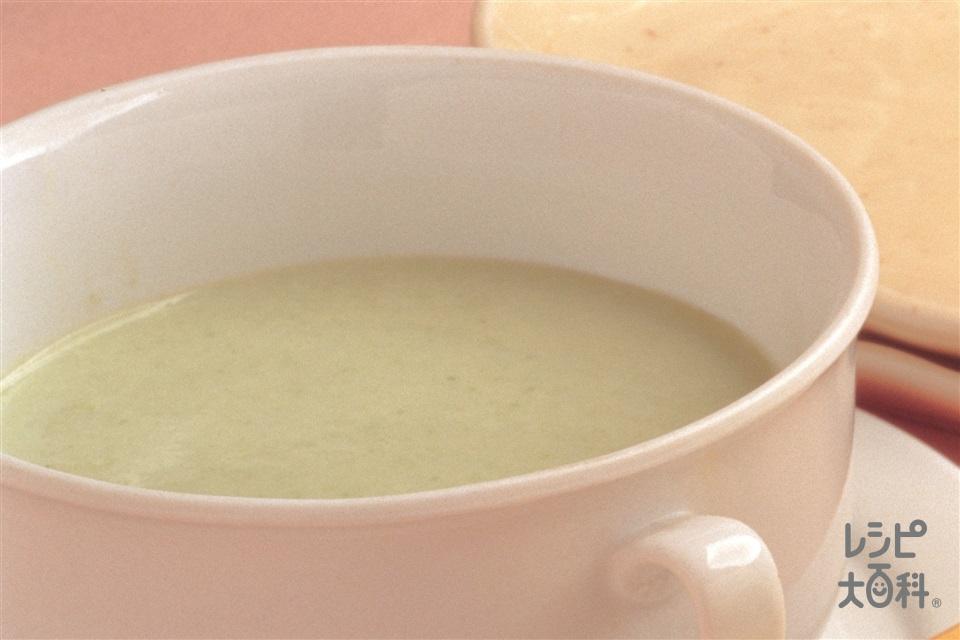 グリーンアスパラのスープ(グリーンアスパラガス+牛乳を使ったレシピ)