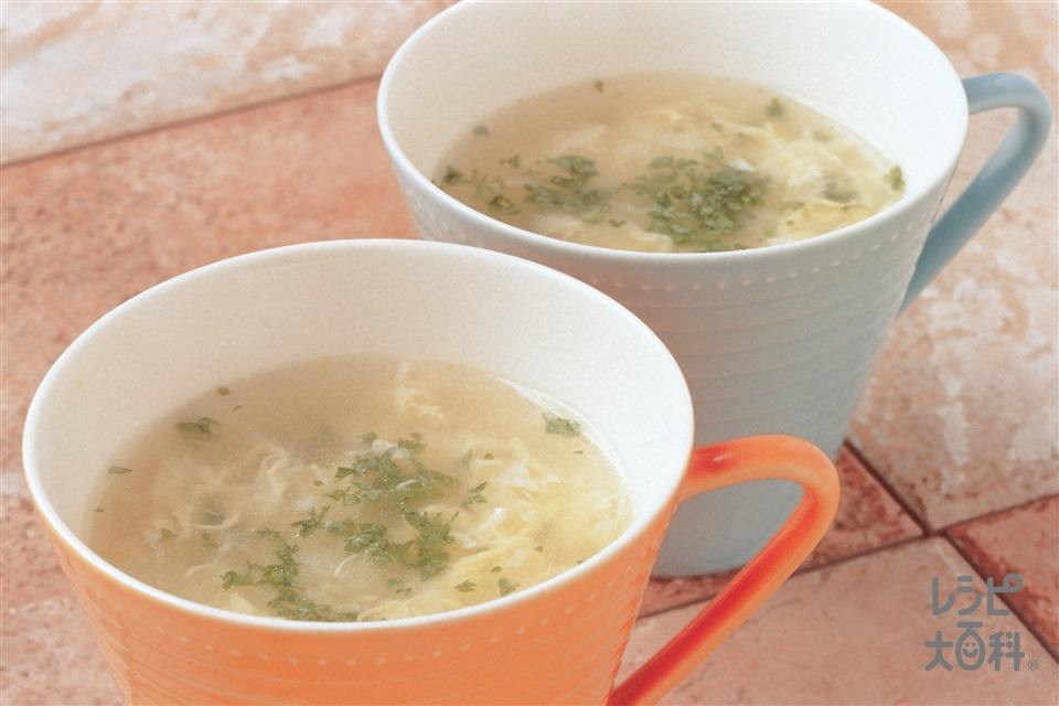卵スープ(卵+パセリを使ったレシピ)