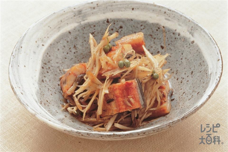 うなぎとごぼうのサッと煮(うなぎのかば焼き+ごぼうを使ったレシピ)