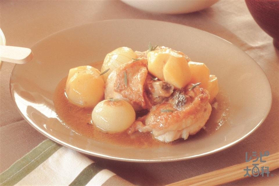 若鶏と栗のビネガー風味(鶏骨つき肉ぶつ切り+栗を使ったレシピ)