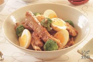 豚スペアリブと卵のピリ辛煮