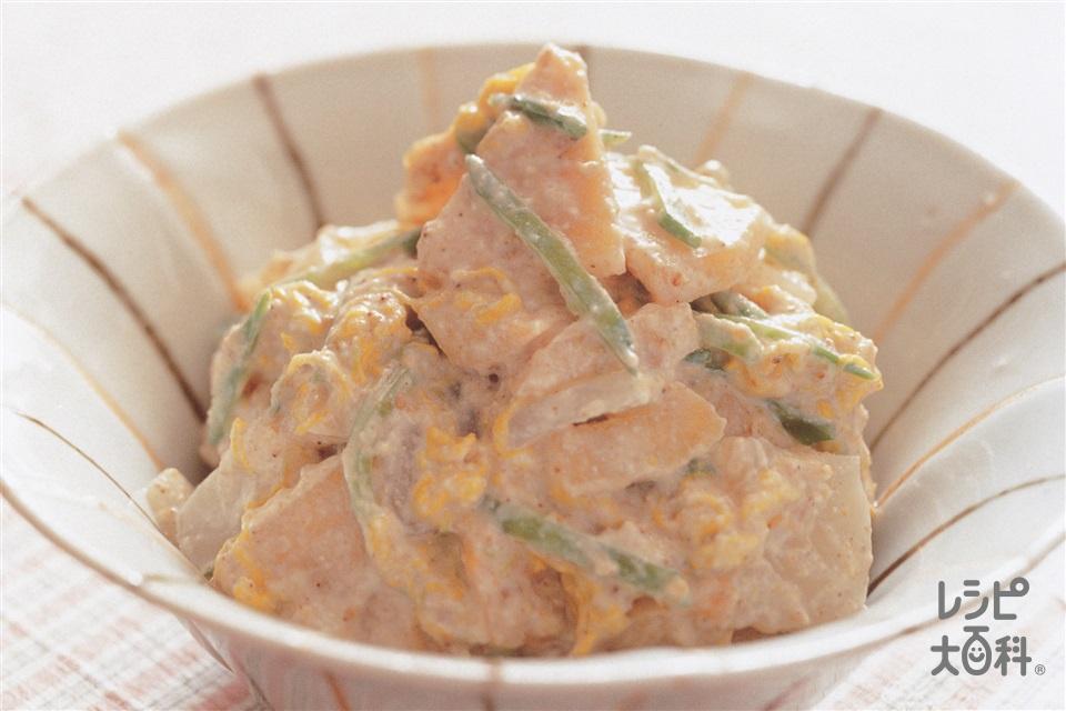 柿の白あえ(柿+絹ごし豆腐を使ったレシピ)