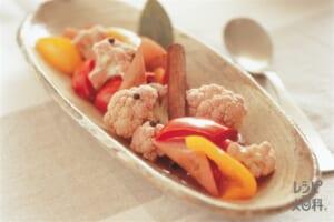 ミックスピクルス(パプリカ(赤)+カリフラワーを使ったレシピ)