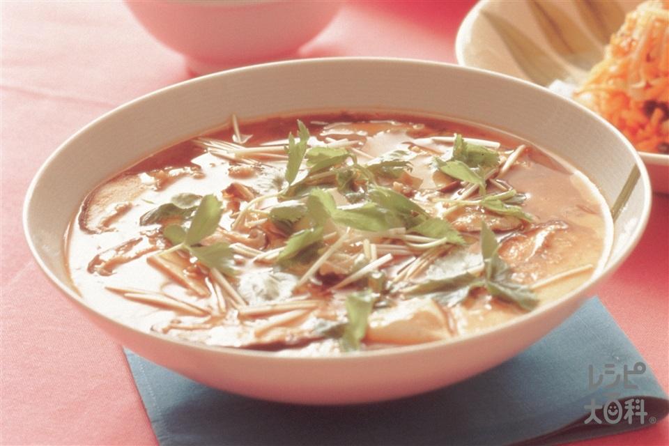 中国風ジャンボ茶碗蒸し(豚ひき肉+絹ごし豆腐を使ったレシピ)