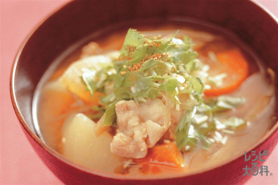豚汁(大根+白こんにゃくを使ったレシピ)