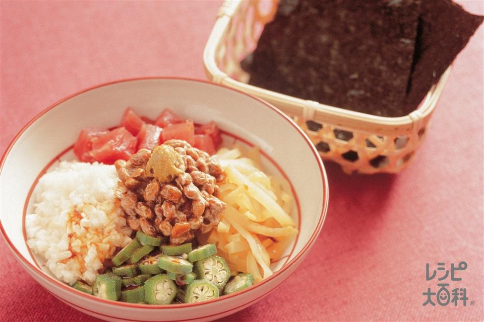五色納豆(まぐろ+大和いもを使ったレシピ)