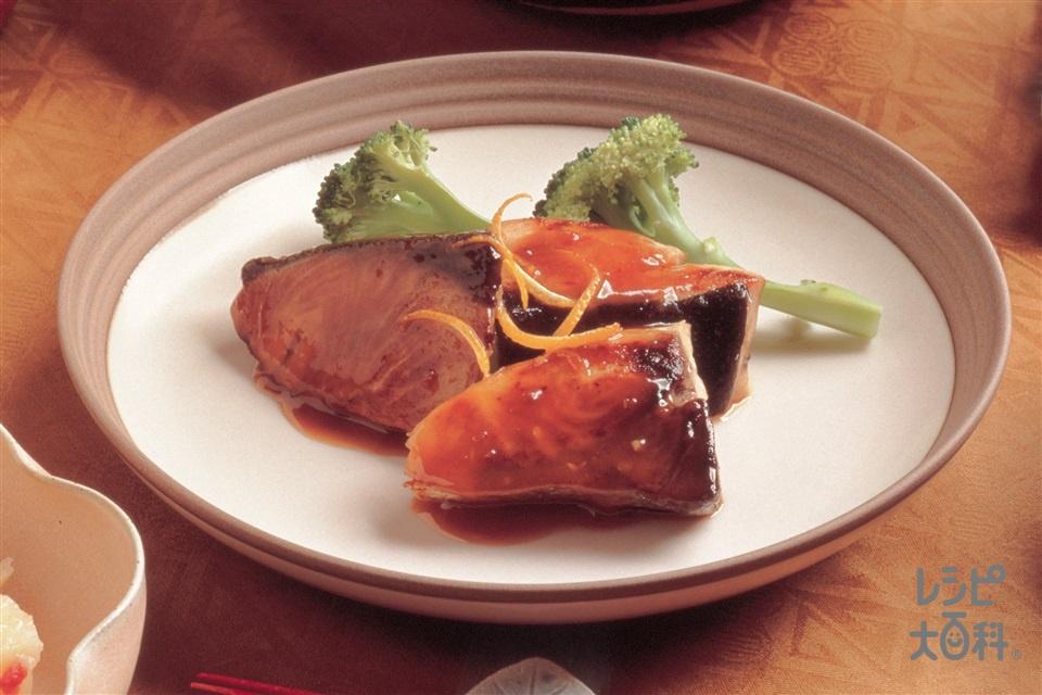 ぶりのソテー みそソースゆず風味(ぶり+ブロッコリーを使ったレシピ)
