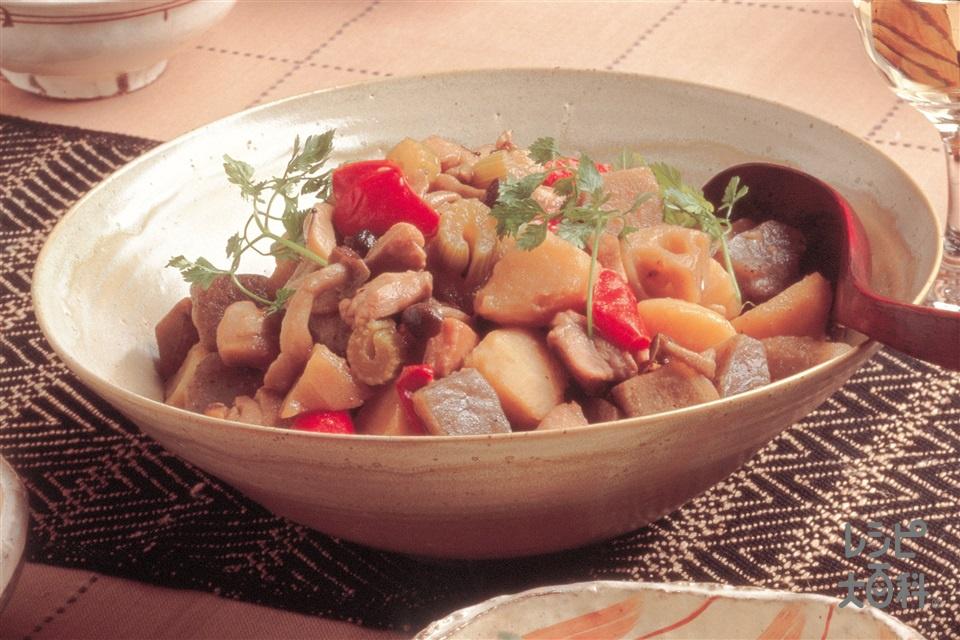 変わり筑前煮(鶏もも肉+じゃがいもを使ったレシピ)