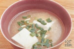 豆腐とたらこの薄トロミスープ