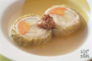 ロールポトフ(キャベツ+豚薄切り肉を使ったレシピ)