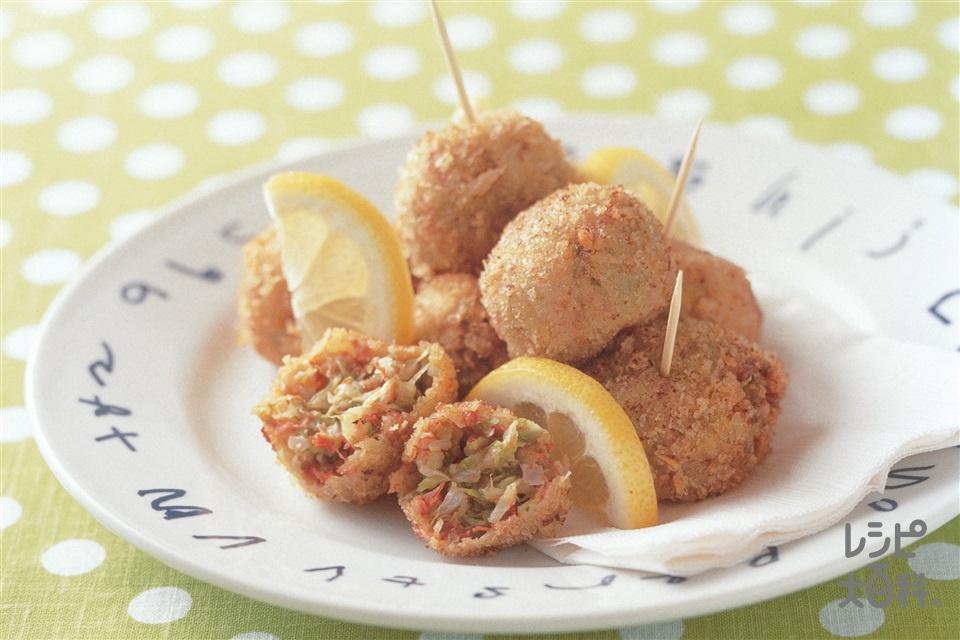 キャベツコロッケ(キャベツ+玉ねぎを使ったレシピ)