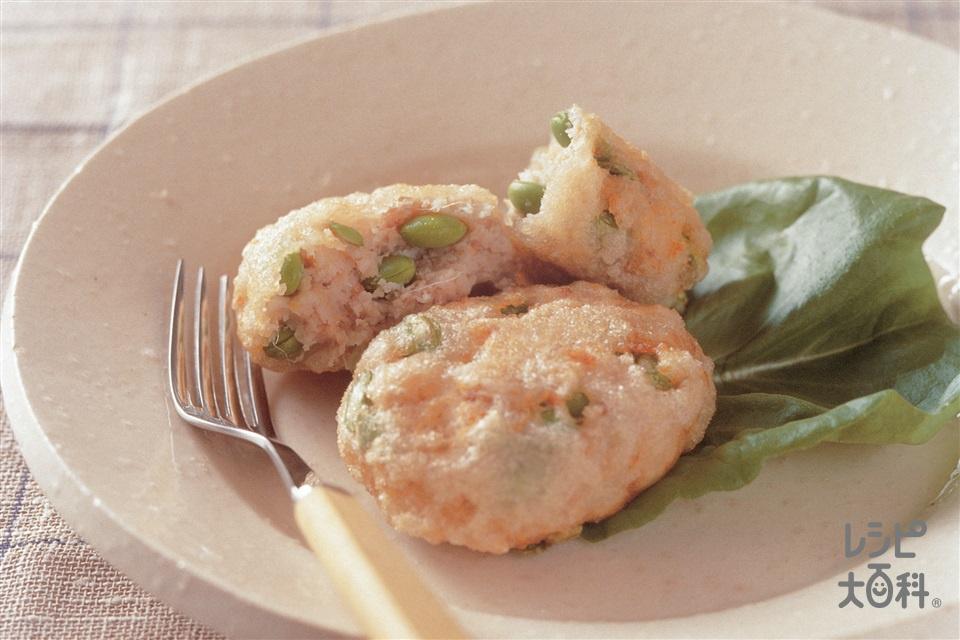 れんこんコロッケ(れんこん+A鶏ひき肉を使ったレシピ)