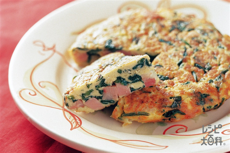 ほうれん草のオムレツ(玉ねぎ+卵を使ったレシピ)