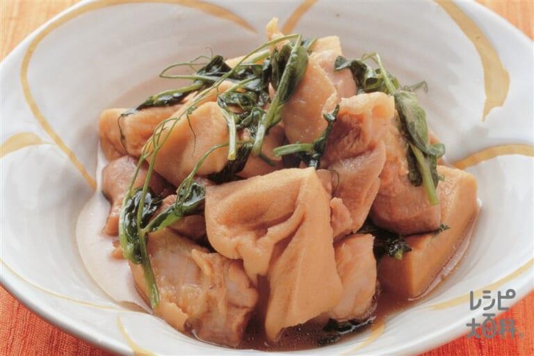 鶏もも肉と揚げ高野豆腐の煮もの