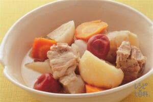 豚肉と根菜の梅味ポトフ