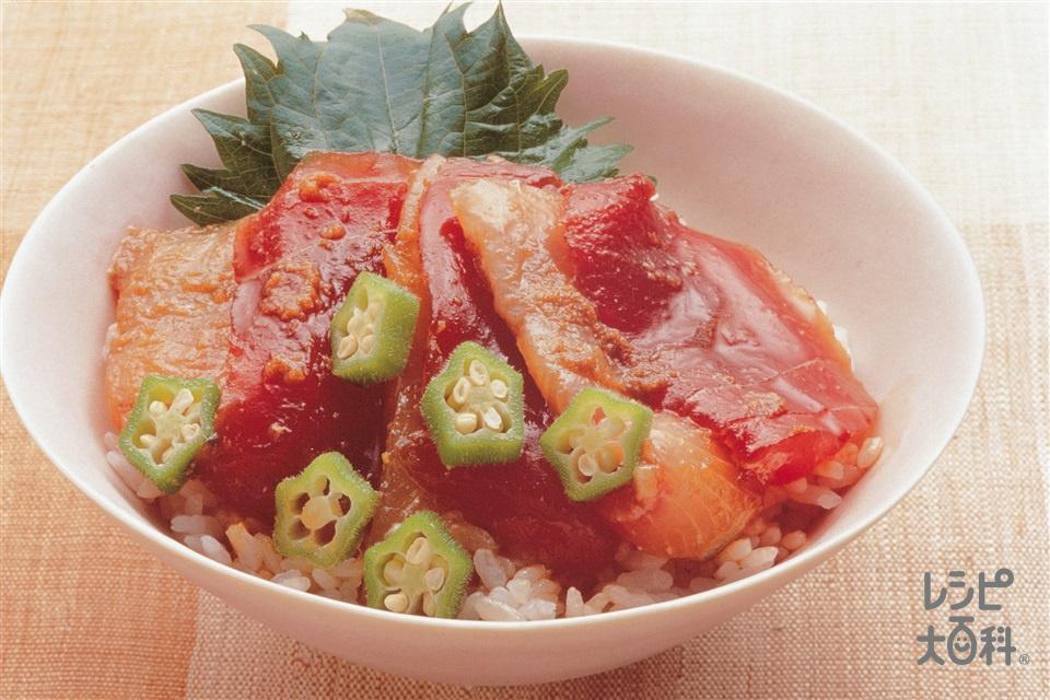 刺身パックのづけ丼(刺身+ご飯を使ったレシピ)