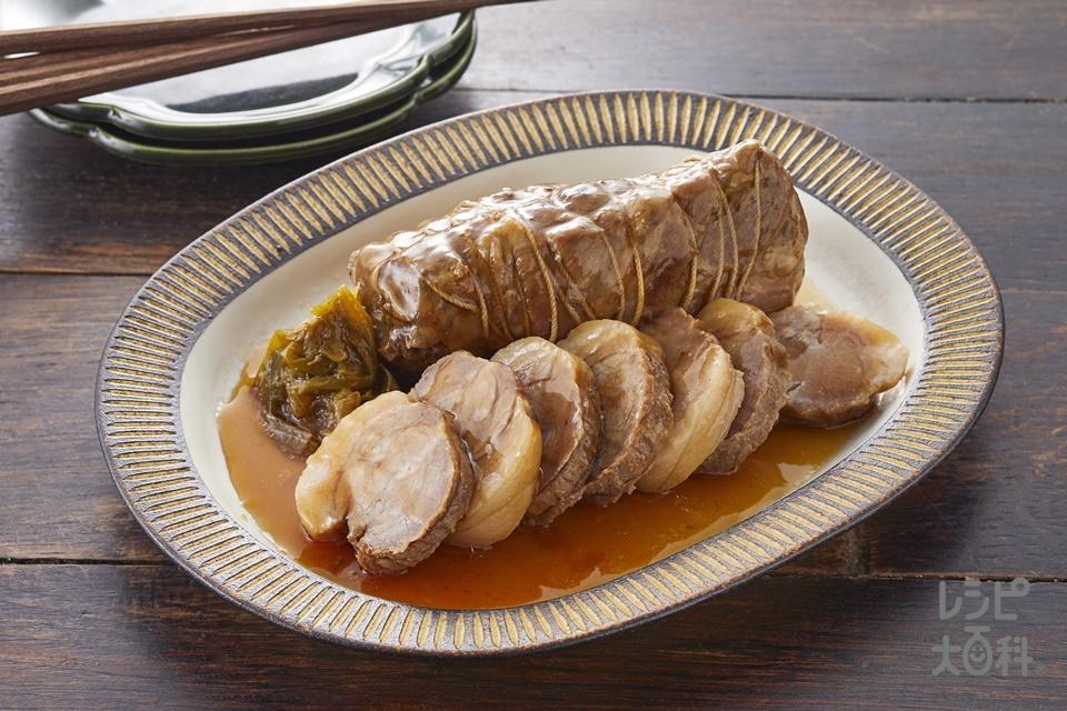 手作り焼豚(豚肩ロースかたまり肉+ねぎを使ったレシピ)