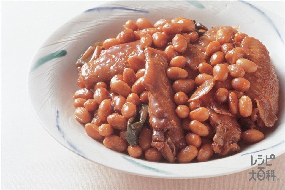 手羽先と大豆の炒め煮(大豆(乾)+鶏手羽先を使ったレシピ)