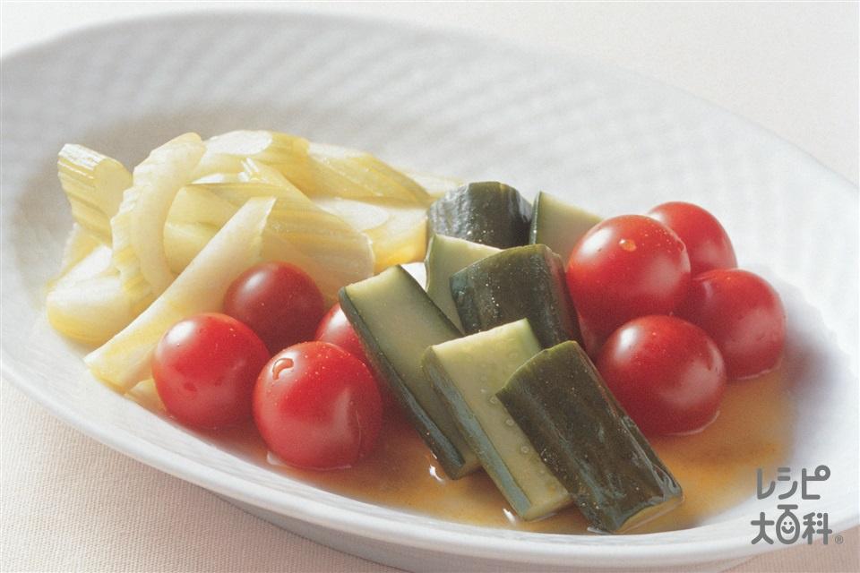セロリとプチトマトのカレーピクルス(きゅうり+ミニトマトを使ったレシピ)