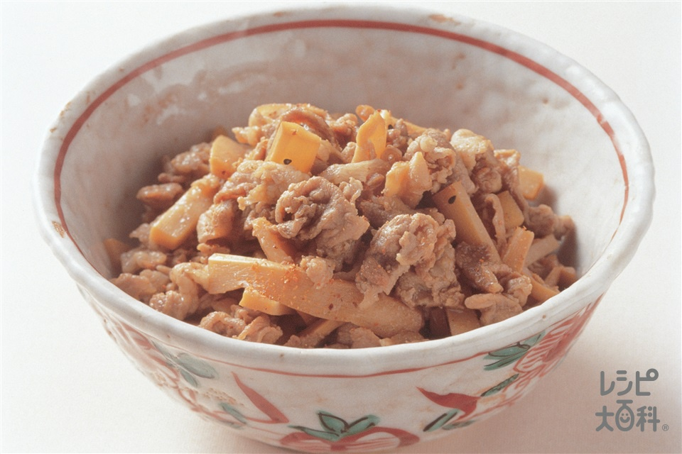 豚こまメンマ(豚こま切れ肉+メンマを使ったレシピ)