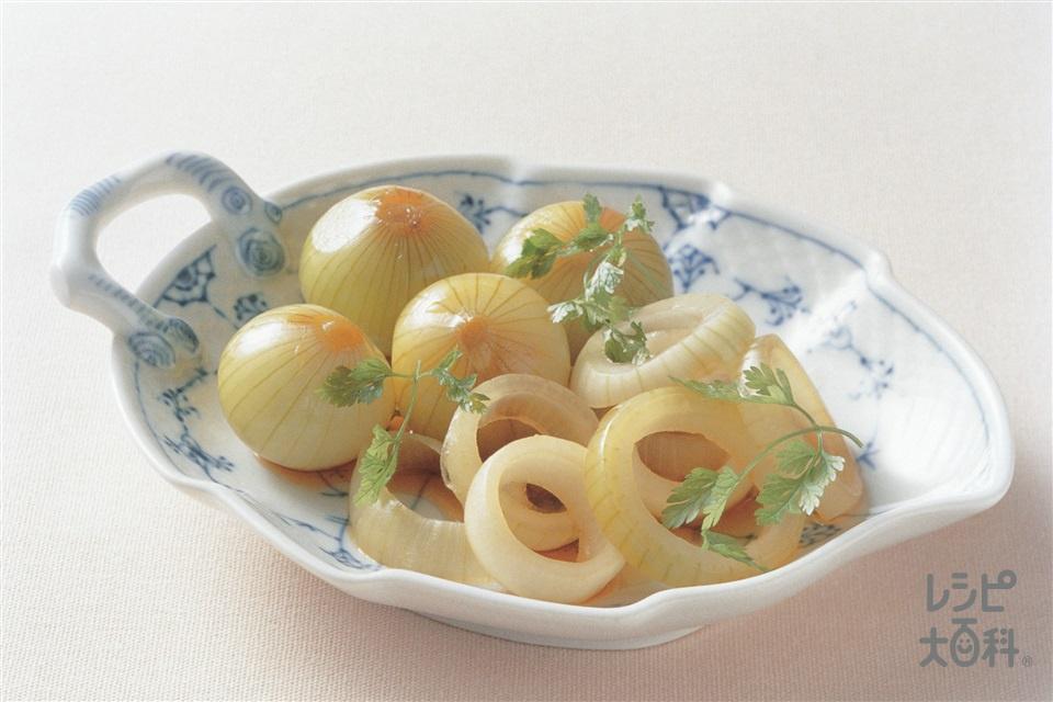 小玉ねぎのハーブ漬け(小玉ねぎ+フレッシュハーブを使ったレシピ)