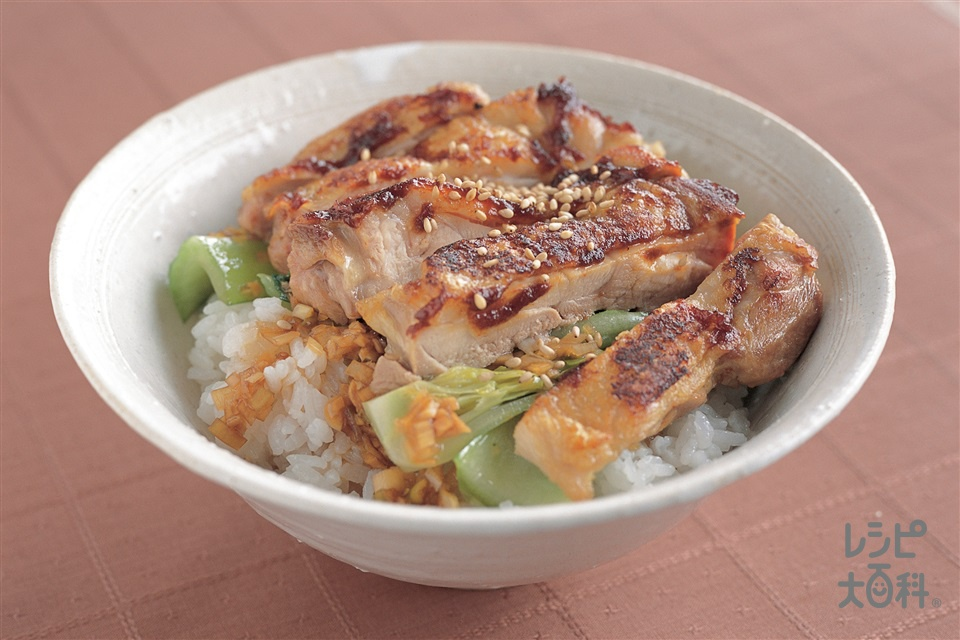 鶏肉のコチュジャン丼(鶏もも肉+ご飯を使ったレシピ)