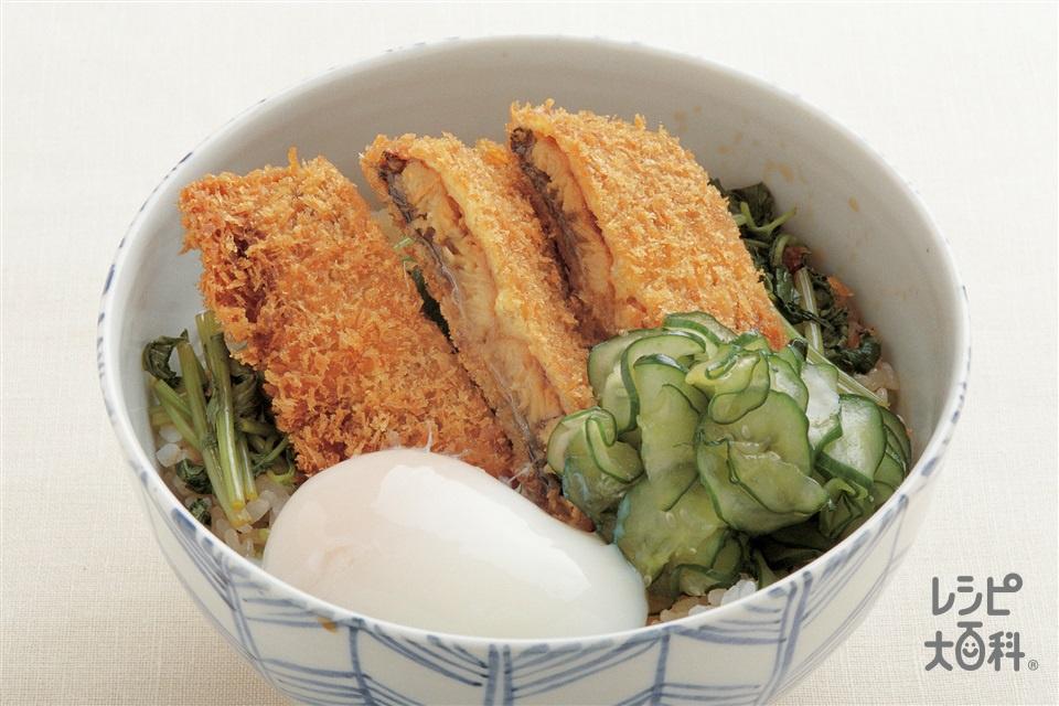 うなかつ丼(みつば+ご飯を使ったレシピ)