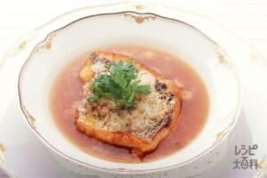 白身魚のムニエル オニオンスープ仕立て