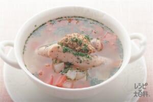 ソーセージと野菜のスープ(ソーセージ+キャベツを使ったレシピ)