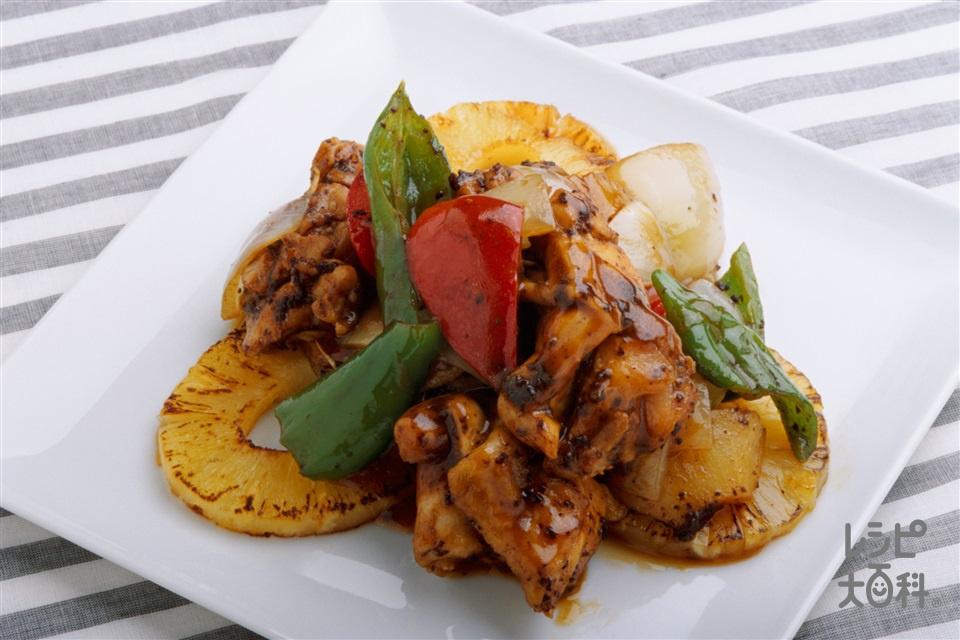 鶏肉とパイナップルの豆チレンジ蒸し