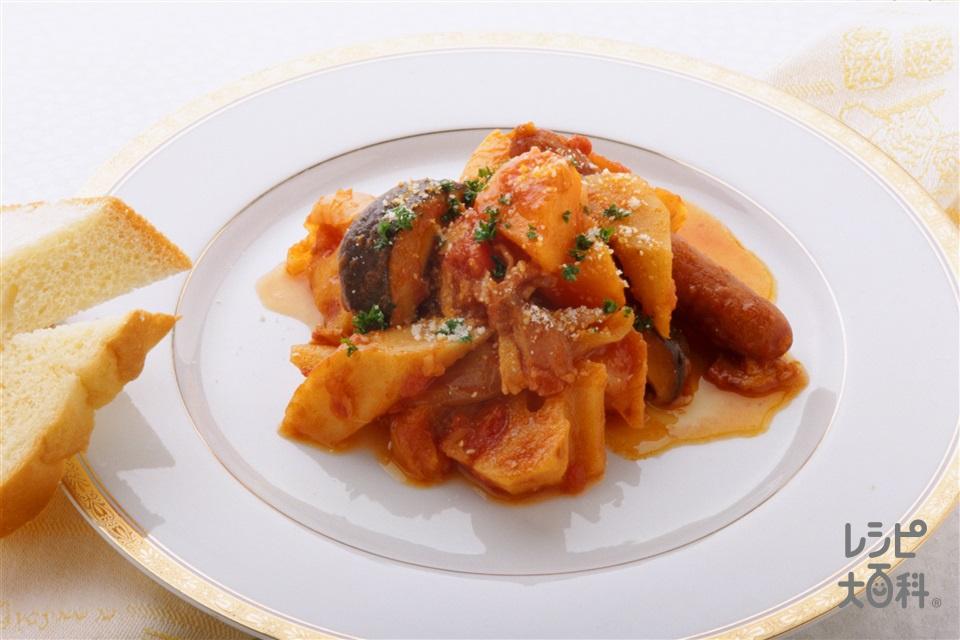 ミラノ風筑前煮(れんこん+玉ねぎを使ったレシピ)