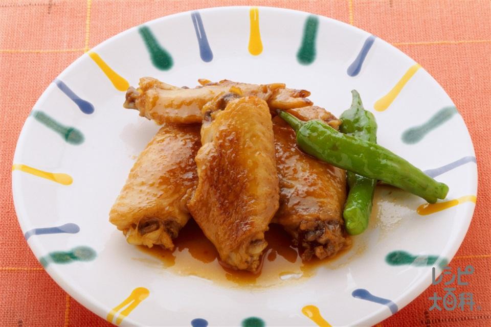 鶏肉のやわらか梅酒煮(鶏手羽先+ししとうがらしを使ったレシピ)
