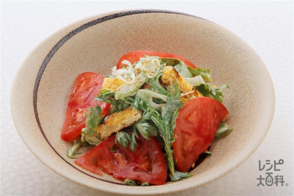 春菊と油揚げのエスニックサラダ