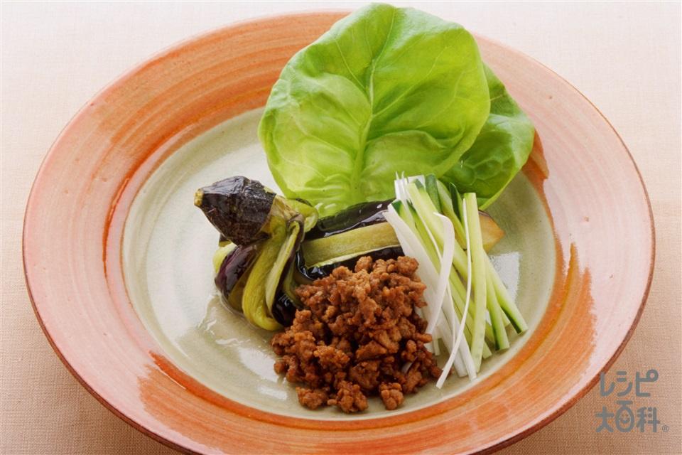 なすの簡単北京ダック風(なす+豚ひき肉を使ったレシピ)