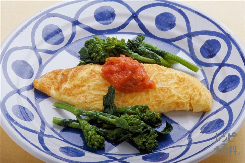 菜の花オムレツ(卵+菜の花を使ったレシピ)