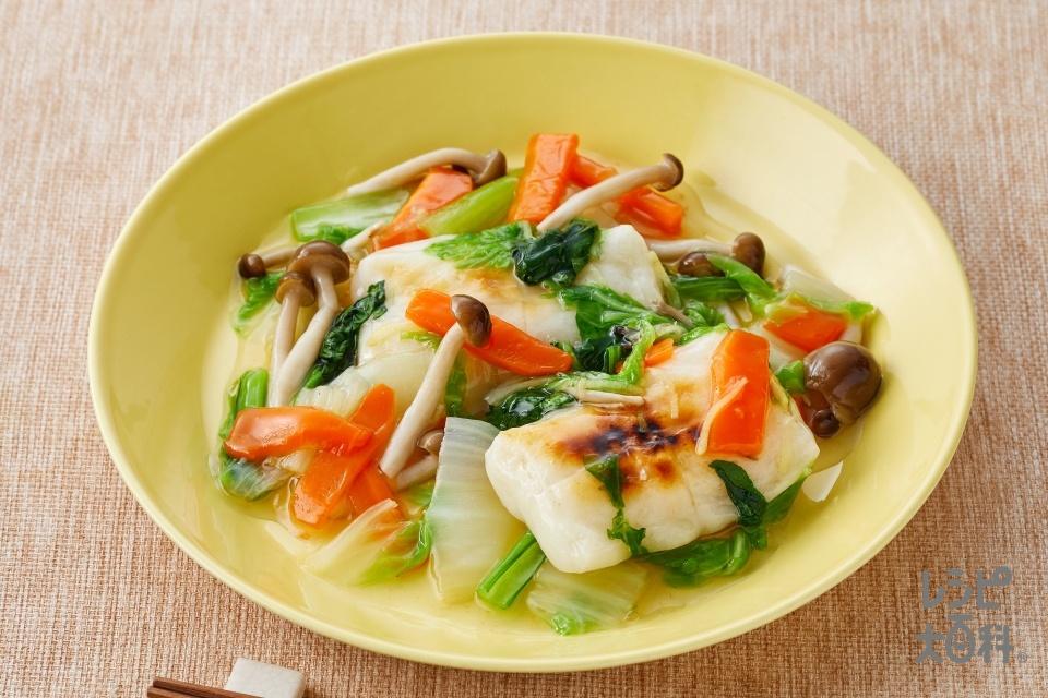 お餅の野菜あんかけ(餅+白菜を使ったレシピ)