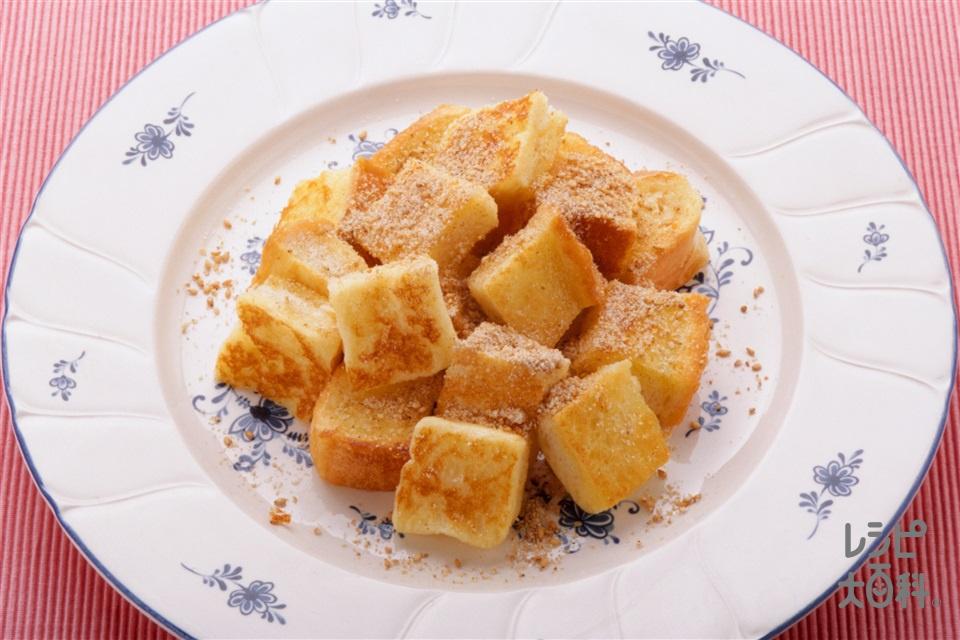 セサミフレンチトースト(食パン+牛乳を使ったレシピ)