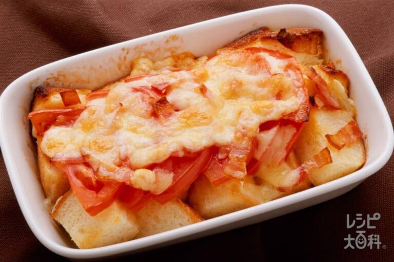 焼きトマトのチーズトースト