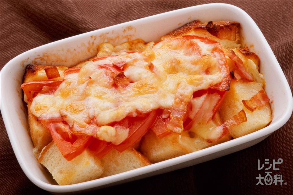 焼きトマトのチーズトースト(食パン6枚切り+「ピュアセレクト マヨネーズ」を使ったレシピ)