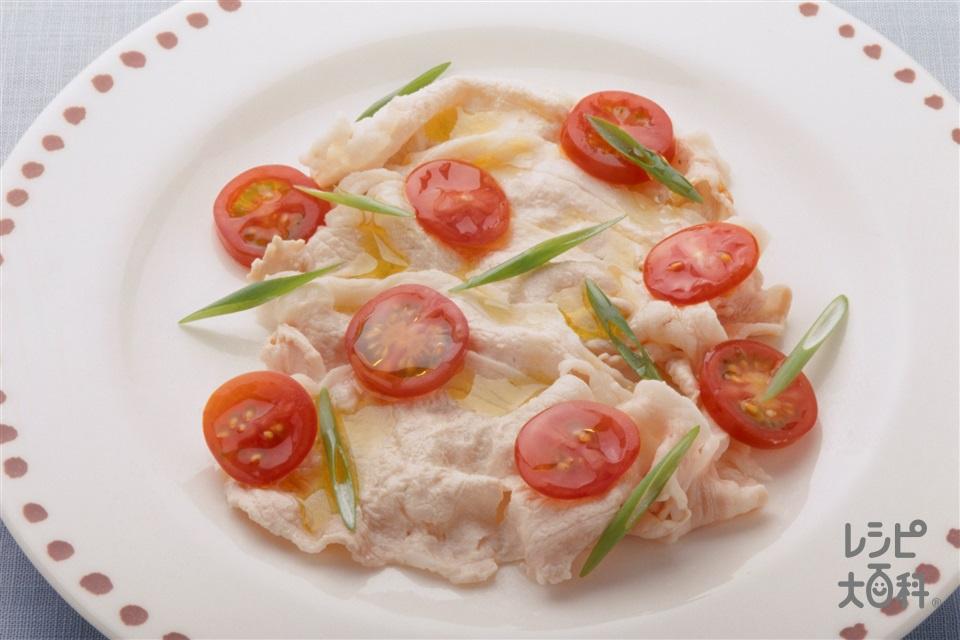 豚肉のカルパッチョ風(豚しゃぶしゃぶ用肉+A水を使ったレシピ)