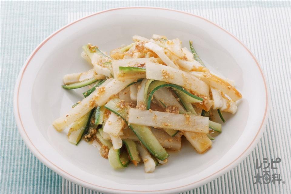 きゅうりと大根のごまサラダ(きゅうり+大根を使ったレシピ)