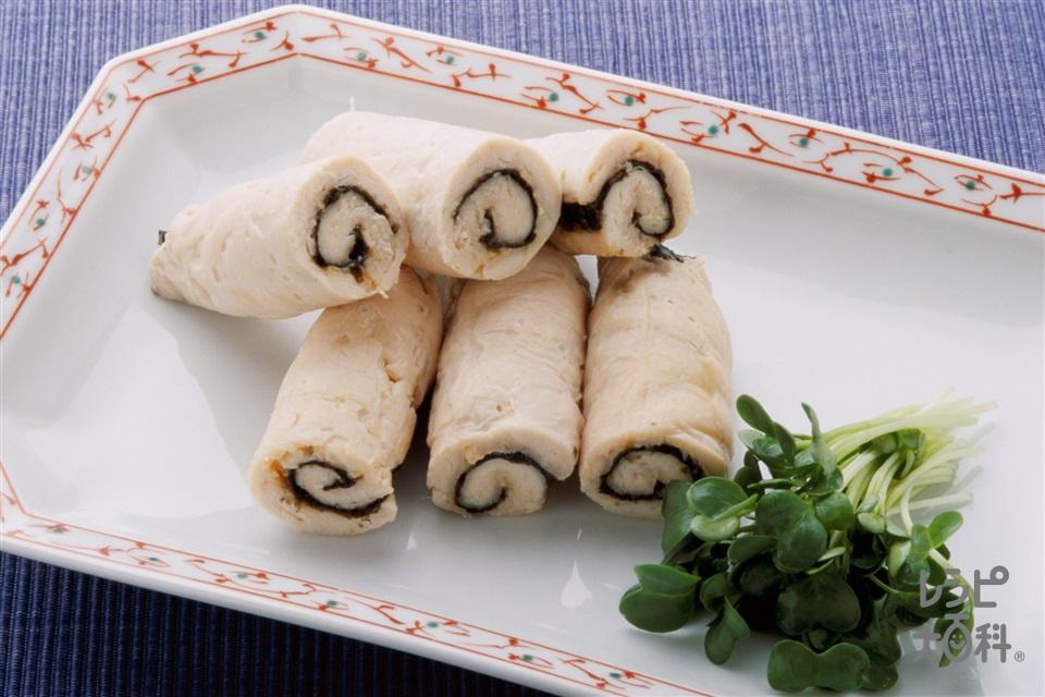 ささ身のみそロール巻き(鶏ささ身+貝割れ菜を使ったレシピ)