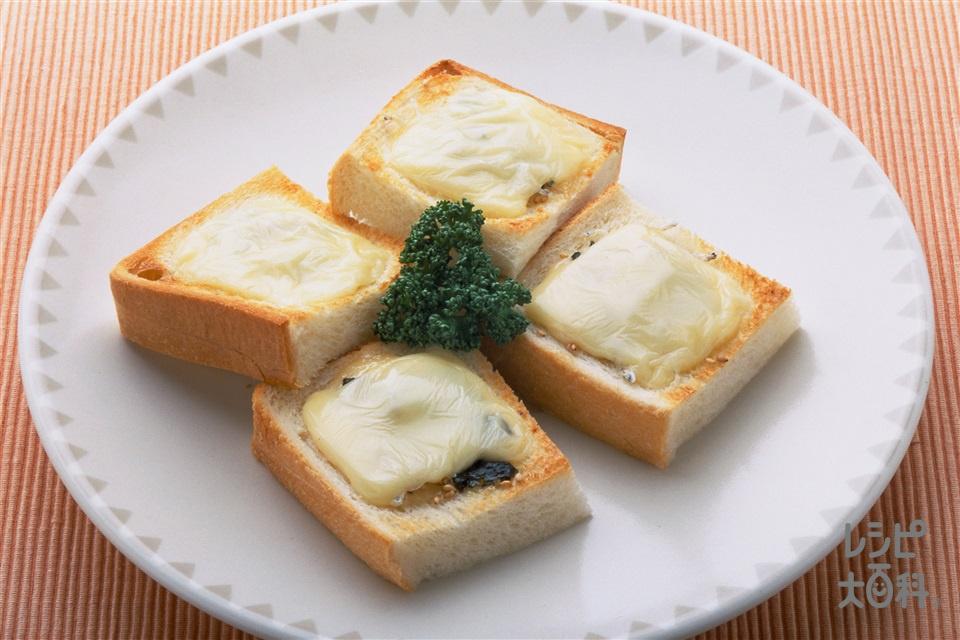 和風ピザトースト(食パン+スライスチーズを使ったレシピ)