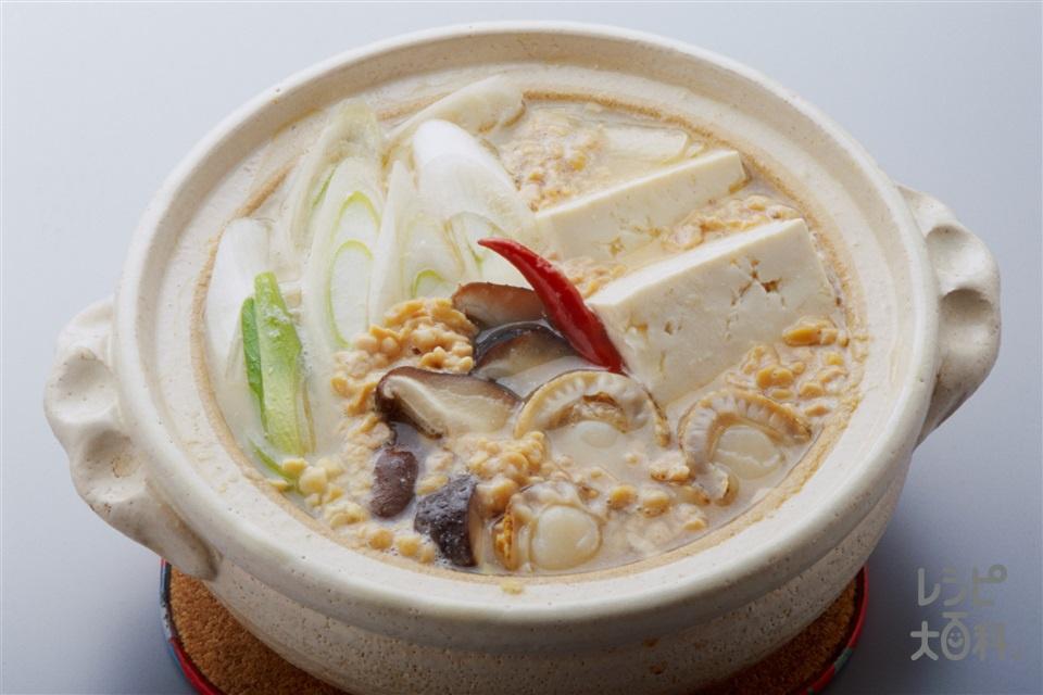 納豆チゲ(ひき割り納豆+木綿豆腐を使ったレシピ)