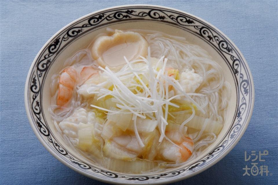 海鮮汁ビーフン(白菜+ビーフンを使ったレシピ)